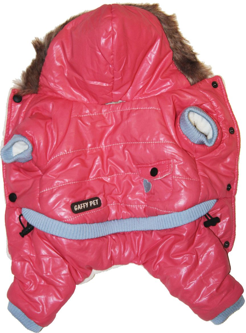 Комбинезон для собак Gaffy Pet Heart, для девочки. Размер S11006 SВаш питомец будет самым стильным и тепло одетым на прогулке. Актуальный розовый цвет и благородный дизайн придутся по душе всем. Капюшон отделан мехом. На стыке капюшона и спинки есть отверстие для поводка.Живот почти полностью закрыт, кроме необходимых для прогулок отверстий.На животе комбинезон фиксируется с помощью кнопок, а в нижней части живота есть 2 ряда кнопок для того, чтобы комбинезон точно сел по фигуре.Дополнительно комбинезон снабжён резинками на рукавах и штанинах для лучшей защиты от снега и холода.Кроме того, в поясе, есть дополнительная резинка с фиксатором для лучшего облегания.Данные модели комбинезонов с закрытым животом были запатентованы как полезная модель. Патент # 2014125392Обхват шеи, см: 21.Обхват груди, см: 40.Длина спины, см: 26.