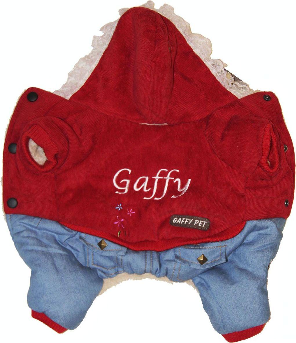 Комбинезон для собак Gaffy Pet Flower, для девочки. Размер XS11007 XSВаш питомец будет самым стильным и тепло одетым на прогулке.Красивая вельветовая курточка в сочетании с модным денимом. Интересная вышивка и оригинальные кнопки добавят собачке индивидуальности.Мы стараемся в каждой модели продумать все детали до мелочей.. Капюшон отделан нежным кружевом. На стыке капюшона и спинки есть отверстие для поводка.Комбинезон внутри отделан теплым мехом для защиты от любого холода.Живот почти полностью закрыт, кроме необходимых для прогулок отверстий.На животе комбинезон фиксируется с помощью кнопок, а в нижней части живота есть 2 ряда кнопок для того, чтобы комбинезон точно сел по фигуре.Дополнительно комбинезон снабжён резинками на рукавах и штанинах для лучшей защиты от снега и холода.Данные модели комбинезонов с закрытым животом были запатентованы как полезная модель. Патент # 2014125392Обхват шеи, см: 20.Обхват груди, см: 35.Длина спины, см: 22.