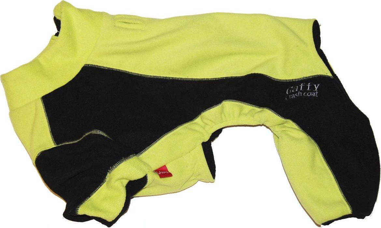 Костюм для собак Gaffy Pet. Размер S11027 SФлисовый комбинезон защитит от холода в любую погоду. Выполнен из очень теплого флиса. Теперь прогулка возможна при любой температуре. На животе есть специальные резинки для лучшей посадки. Легко надевается и застегивается на молнию на спине. Молния также закрыта планкой из флиса. Комбинезон незаменим при активных прогулках и походах. Яркая расцветка. Подойдет всем собакам.Обхват шеи, см: 32.Обхват груди, см: 50.Длина спины, см: 32.