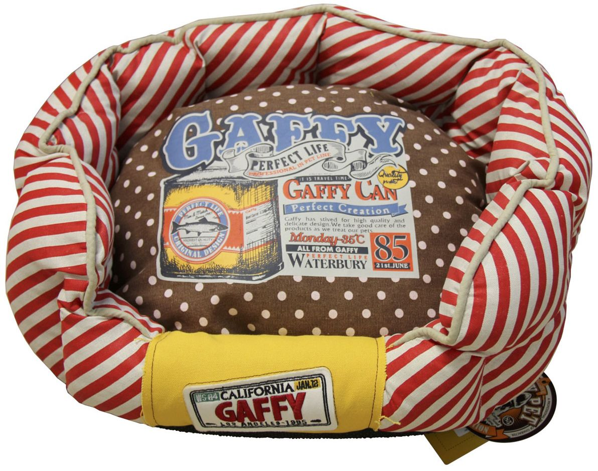 Лежак для животных Gaffy Pet Dots Stripes, 55 х 49 х 23 см11032MЛежак для животных Gaffy Pet обязательно понравится вашему питомцу. Верх лежака выполнен из плотного текстиля. В качестве наполнителя используется мягкий холлофайбер. Изделие имеет двустороннюю подушку, ее можно использовать отдельно. Яркая лежанка для мелких и средних собак прекрасно впишется в любой современный интерьер.