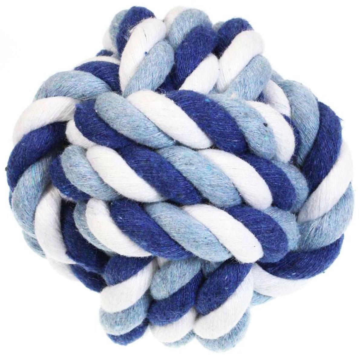 Игрушка для собак Gaffy Pet Мячик веревочный большой, цвет: голубой, 7 х 7 см11045 большой голубойОчень прочный мячик из канатных веревок прослужит вам долгое время.Выполнен в ярких цветах. Доступен в двух размерах.Средний мяч подойдет собакам всех пород.100% хлопок.