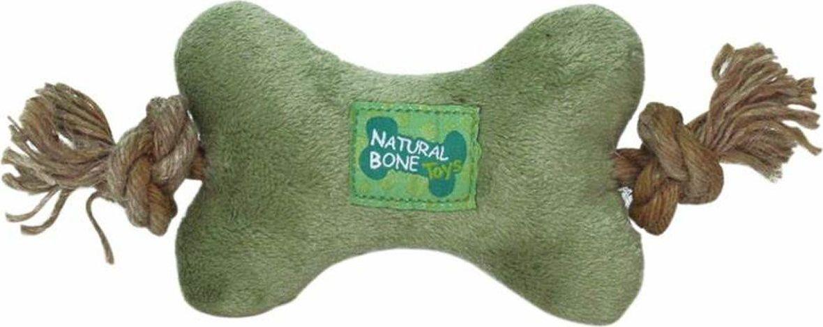 Игрушка для собак Gaffy Pet Косточка мягкая с веревками, 22 см11057Очень симпатичная косточка. С двух сторон есть сизалевые веревки.Создана специально для щенков. Но и взрослой собаке очень понравится.Оригинальный дизайн. Прочная и долговечная.Цвет зеленый.Длина 22 см