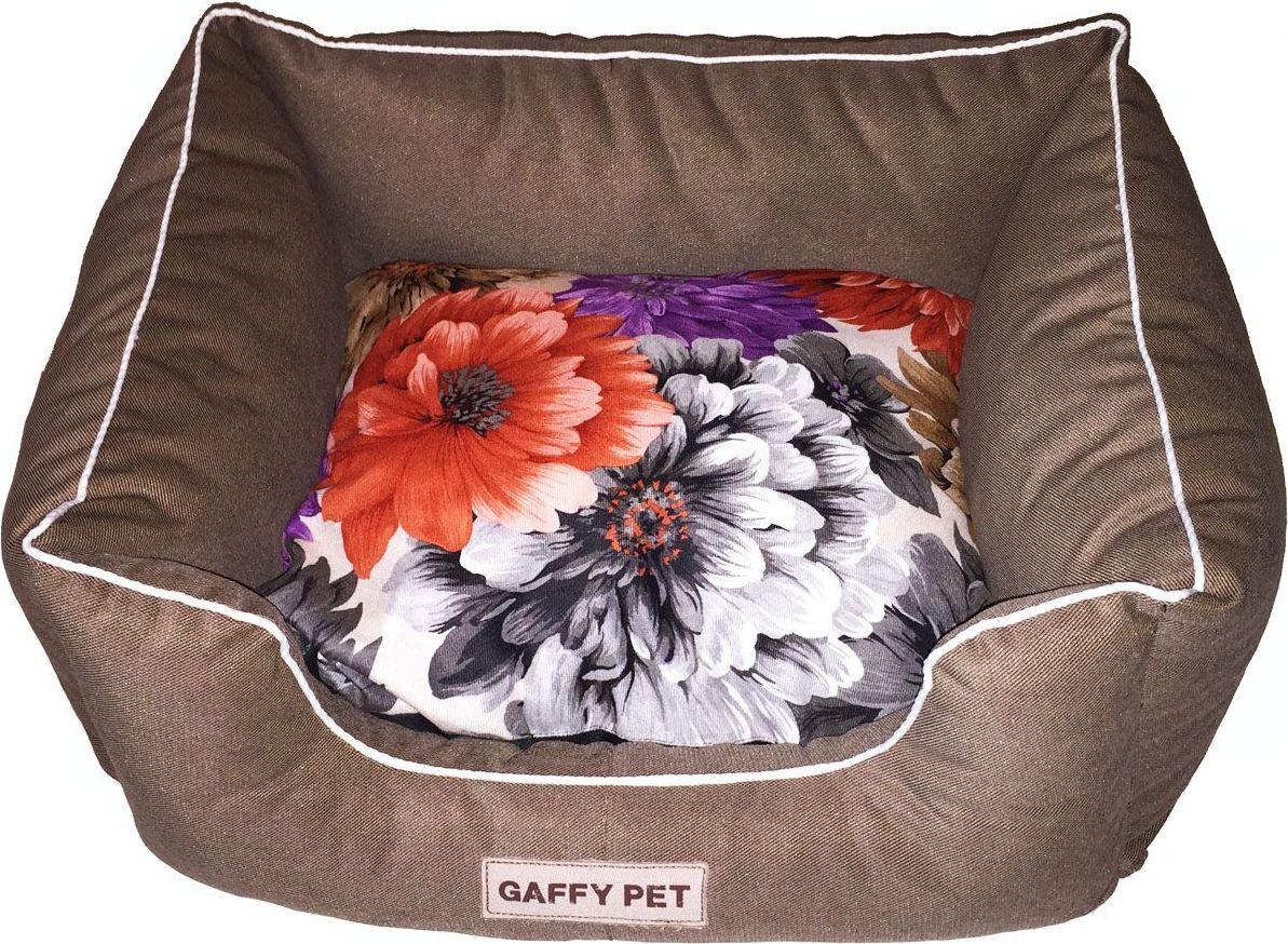 Лежак для животных Gaffy Pet Flower, цвет: шоколадный, 55 х 45 х 23 см цена