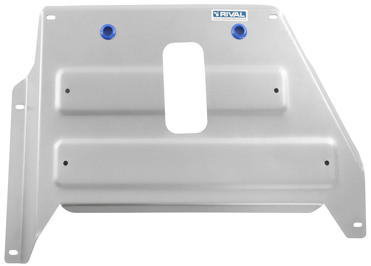 Защита кислородного датчика Rival, для Nissan Terrano, Renault Duster, Renault Kaptur, алюминий 1,8 мм333.4725.1Защита кислородного датчика Rival надежно защищает днище вашего автомобиля от повреждений, например при наезде на бордюры, а также выполняют эстетическую функцию при установке на высокие автомобили. Изделие изготовлено из прочного алюминия 1,8 мм и предназначено для Nissan Terrano 4х4 , V - 1,6: 2,0 2014-; Renault Duster I,II 4х4 , V - 1,6: 2,0 2015-; Renault Kaptur 4x4, 2,0 2016.Особенности:- Толщина алюминиевых защит в 2 раза толще стальных, а вес при этом меньше до 30%. - Отлично отводит тепло от двигателя своей поверхностью, что спасает двигатель от перегрева в летний период или при высоких нагрузках. - В отличие от стальных, алюминиевые защиты не поддаются коррозии, что гарантирует срок службы защит более 5 лет. - Покрываются порошковой краской, что надолго сохраняет первоначальный вид новой защиты и защищает от гальванической коррозии. - Глубокий штамп дополнительно усиливает конструкцию защиты. - Подштамповка в местах крепления защищает крепеж от срезания. - Технологические отверстия там, где они необходимы для смены масла и слива воды, оборудованные заглушками, надежно закрепленными на защите. В комплект входит крепеж: болт М8x25 - 3 шт; болт М8x70 - 2 шт; шайба 8 - 5 шт; гайка закладная М8 - 2 шт; гайка закладная М8 с проволокой - 2 шт; гайка закладная М8 фиксируемая - 1 шт; втулка - 2 шт; заглушка - 2 шт; защита - 1 шт. Изделие дополнено инструкцией. Уважаемые клиенты! Обращаем ваше внимание, на тот факт, что защита имеет форму, соответствующую модели данного автомобиля. Фото служит для визуального восприятия товара.