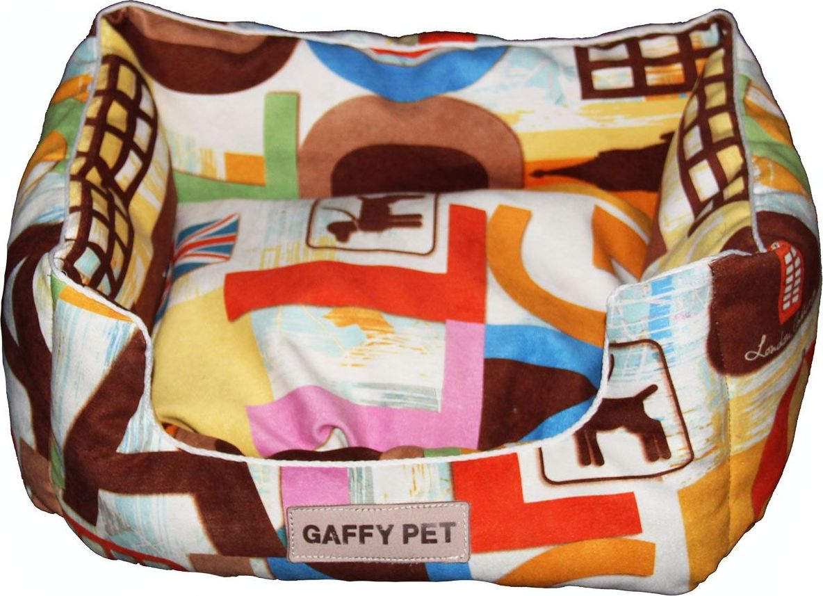 Лежак для животных Gaffy Pet London, 45 х 35 х 22 см11224SЛежак для животных Gaffy Pet обязательно понравится вашему питомцу. Верх лежака выполнен из плотного текстиля. В качестве наполнителяиспользуется мягкий холлофайбер. Изделие имеет высокие бортики, которые отлично держат форму. Использованиепрофессиональных тканей дает владельцам питомцев большое преимущество в чистке и уходе без ущерба внешнему виду. Такой лежакпрекрасно впишется в любой современный интерьер.