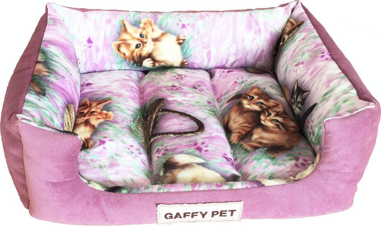 Лежак для животных Gaffy Pet Pets, цвет: розовый, 55 х 45 х 16 см11239MНовая коллекция из серии PETS из прочных профессиональных тканей. АНТИКОГОТЬ. Высота борта впереди варьируется. Очаровательная расцветка, подойдет как кошкам, так и собакам. Можно стирать на ручном режиме в стиральной машине и чистить щеткой.