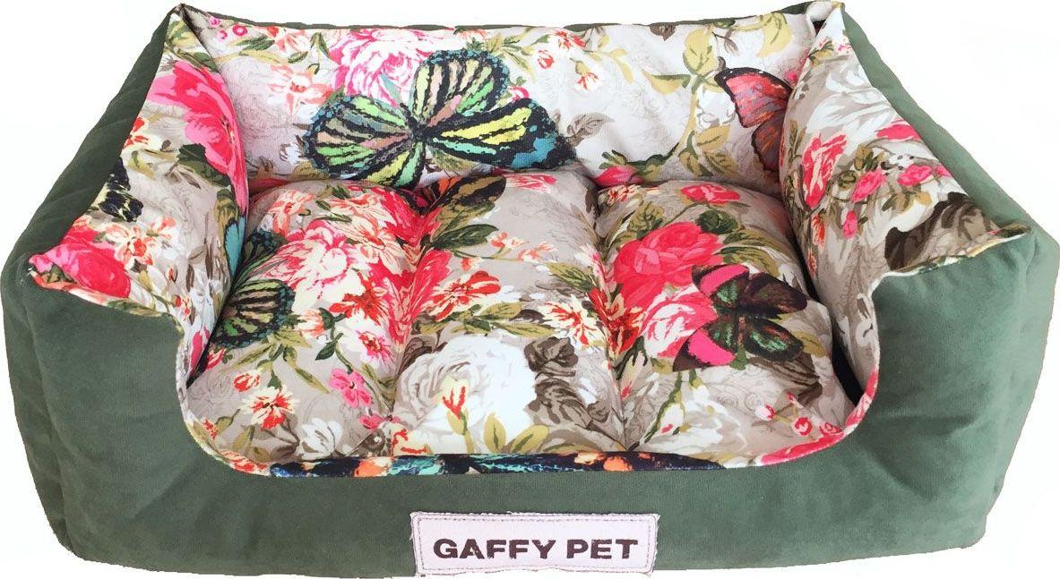 Лежак для животных Gaffy Pet Butterfly, цвет: зеленый, 55 х 40 х 16 см лежак дарэлл хантер лось 2 с подушкой 55 40 16см