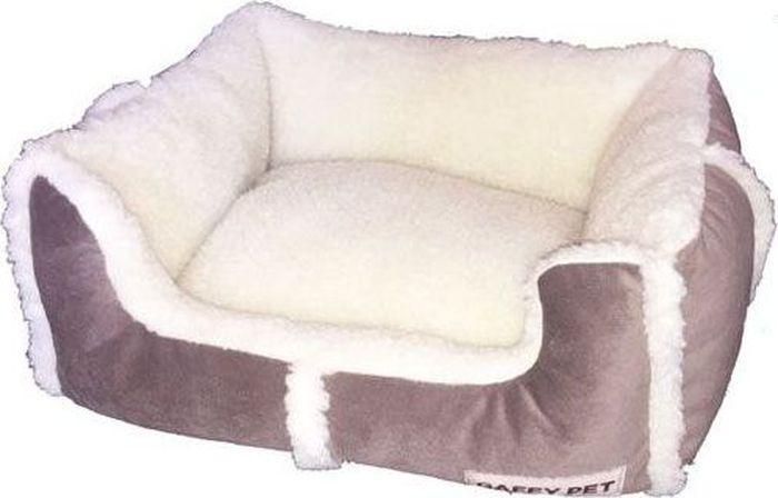 Лежак Gaffy Pet Sherpa, цвет: бежевый, 55 х 45 х 23 см11262MСерия лежаков Люкс с отделкой под ОВЧИНУ. Уютная, очень стильная ручная работа.