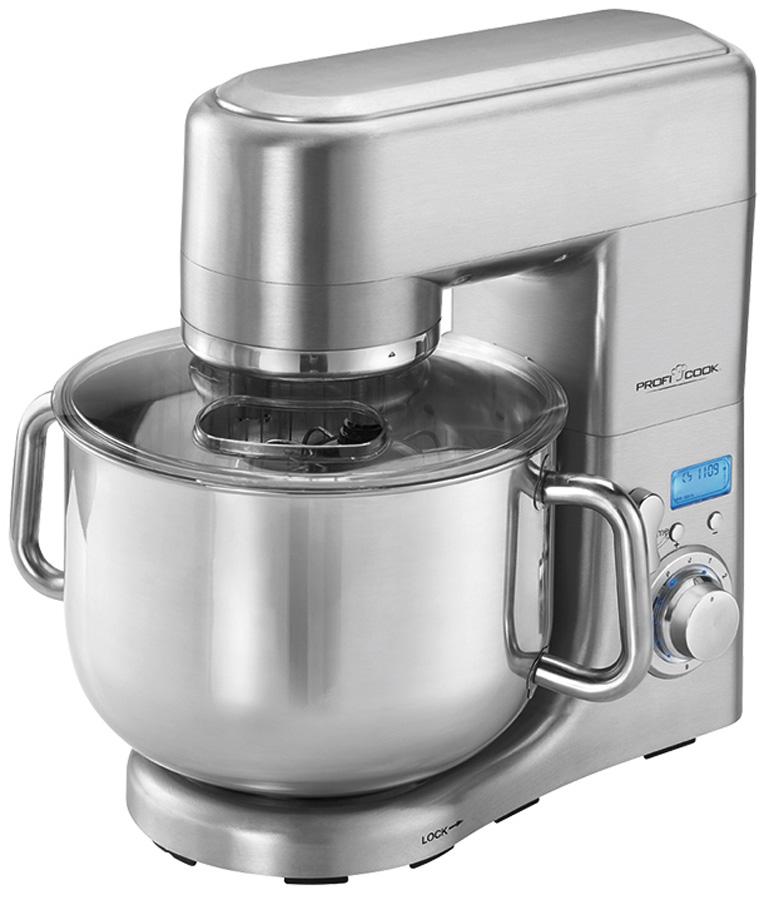 Profi Cook PC-KM 1096, Silver кухонный комбайн00-00001454Кухонный комбайн Profi Cook PC-KM 1096 станет прекрасным помощником для любой хозяйки. С ним вы сможете готовить невероятно вкусные и аппетитные блюда, при этом сократив время их приготовление. Основным назначением прибора является изготовление различных видов теста и кремов. Прибор качественно и быстро перемешивает различные ингредиенты, что дает возможность избежать комочков.Profi Cook PC-KM 1096 имеет массивный алюминиевый литой корпус и мощный, долговечный профессиональный мотор, 1500 Вт. Комбайн снабжен чашей из нержавеющей стали объемом 10 л для приготовления 7 кг смеси. 8 скоростей (0-1-2-3-4-5-6-импульсный режим) обеспечат наилучший результат. В наборе также литые из сплава алюминия лопатка и крюки (2 штуки) для тяжелого теста, венчик из нержавеющей стали для взбивания ингредиентов, таких как яичные белки, сливки и прочее.Электронный контроль скорости Прозрачная крышка для защиты от брызг Нескользящие ножки на присосках
