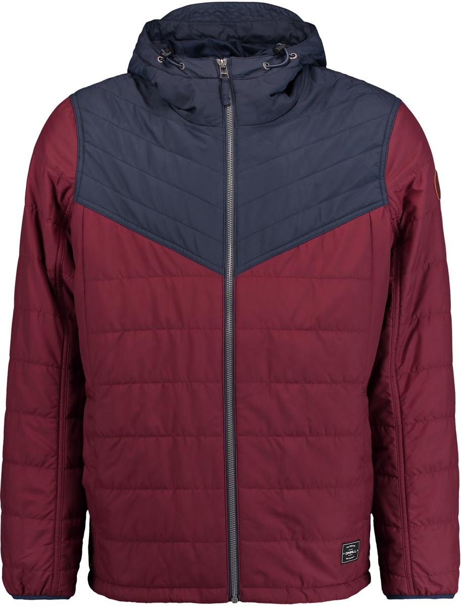 Куртка мужская ONeill Am Transit Jacket, цвет: бордовый, синий. 7P0114-3116. Размер M (48/50)7P0114-3116Мужская куртка ONeill выполнена из высококачественного материала. Утепленная куртка с капюшоном и длинными рукавами застегивается на молнию. Спереди расположены карманы.
