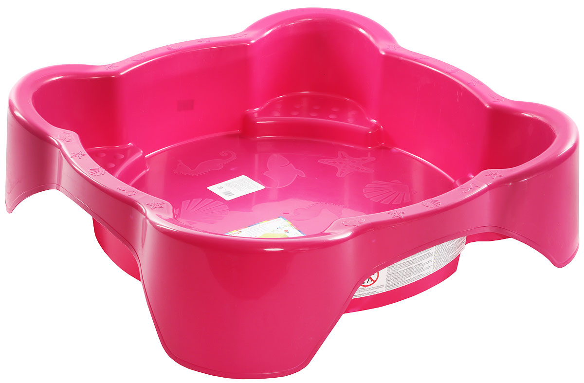 Marian Plast Песочница квадратная цвет розовый - Игры на открытом воздухе