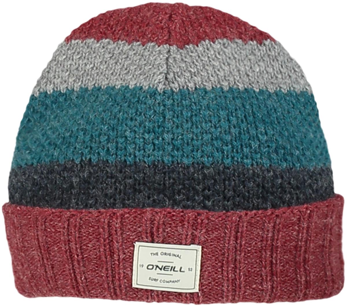 Шапка мужская ONeill Bm Snowset Wool Mix Beanie, цвет: красный, синий, бирюзовый, серый. 7P4104-3087. Размер универсальный7P4104-3087Стильная мужская шапка от ONeill выполнена из акриловой пряжи с добавлением шерсти. Шапка с отворотом.