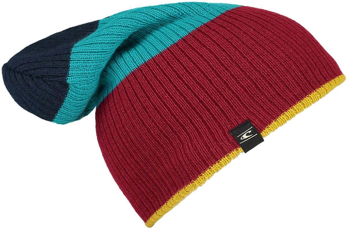 Шапка мужская ONeill Bm Reversible Block Beanie, цвет: красный, синий, бирюзовый. 7P4127-3087. Размер универсальный7P4127-3087Мужская шапка от ONeill выполнена из акриловой пряжи. Такая стильная шапка подойдет на каждый день и согреет в холодную погоду.