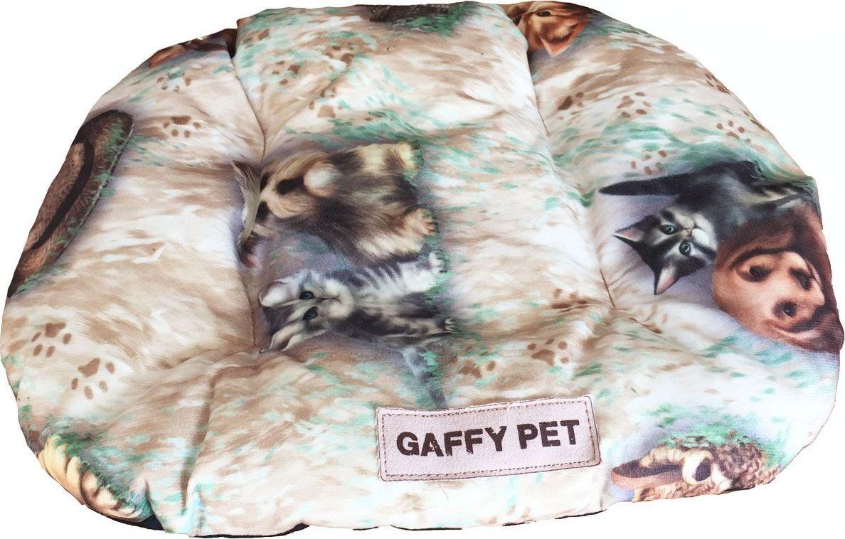 Подушка для животных Gaffy Pet Pets, цвет: бежевый, 55 х 35 см10021452Подушка для животных Gaffy Pet обязательно понравится вашему питомцу. Верх подушки выполнен из плотного текстиля. В качестве наполнителя используется мягкий холлофайбер. Изделие имеет бортики, высота которых варьируется. Очаровательная расцветка, подойдет как кошкам, так и собакам. Можно стирать на ручном режиме в стиральной машине и чистить щеткой.