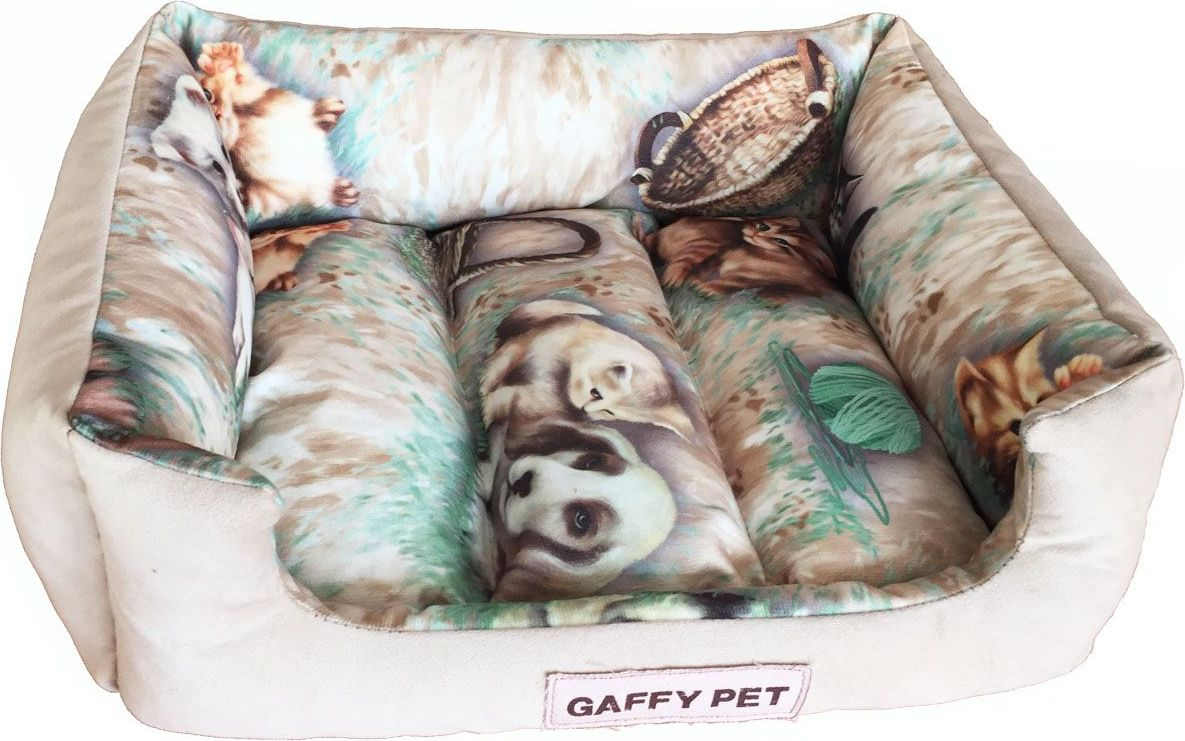 Лежак для животных Gaffy Pet Pets, цвет: бежевый, 45 х 35 х 14 см11238 SЛежак для животных Gaffy Pet обязательно понравится вашему питомцу. Верх лежака выполнен из плотного текстиля. В качестве наполнителя используется мягкий холлофайбер. Изделие имеет высокие бортики, которые отлично держат фору. Использование профессиональных тканей дает владельцам питомцев большое преимущество в чистке и уходе без ущерба внешнему виду. Такой лежак прекрасно впишется в любой современный интерьер.