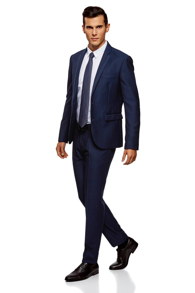 Брюки мужские oodji Lab, цвет: темно-синий. 2L210211M/47308N/7975O. Размер 48 (56-182) брюки oodji oodji oo001ewjeg76