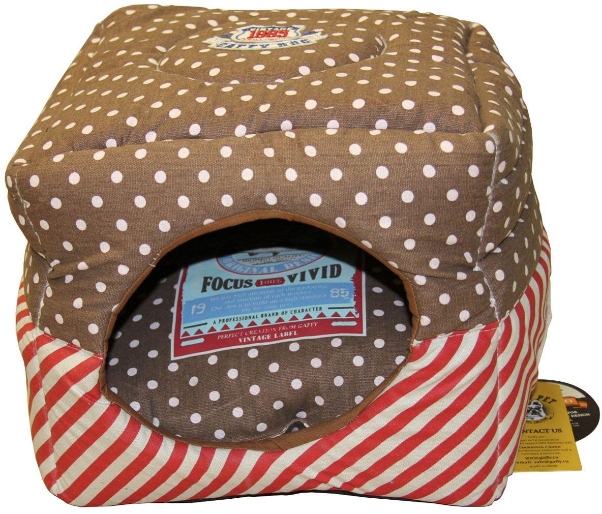 Лежак-трансформер для животных Gaffy Pet Dots Stripes, 35 х 35 х 35 см11034Стильная и практичная лежанка-трансформер 3 в 1. Может быть использована как домик. Можно сложить вдвое и использовать как лежанку. Подушка двусторонняя, ее можно использовать отдельно. Приятные на ощупь материалы, легко моются. Яркая расцветка, подойдет и мальчикам, и девочкам.