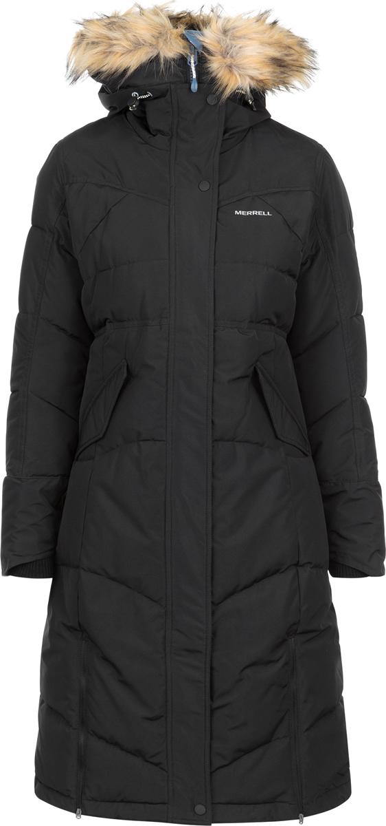 Пуховик женский Merrell Chattii, цвет: черный. A18AMRJAW06-99. Размер 44A18AMRJAW06-99
