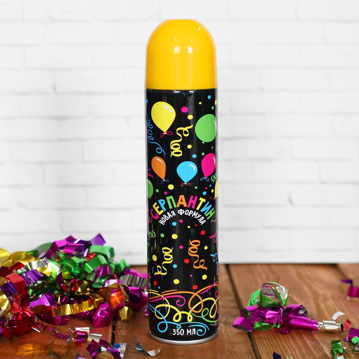 Спрей Серпантин, цвет: желтый, 350 мл2358591Невозможно представить нашу жизнь без праздников! Мы всегда ждем их и предвкушаем, обдумываем, как проведем памятный день, тщательно выбираем подарки и аксессуары, ведь именно они создают и поддерживают торжественный настрой. Новогодние аксессуары - это отличный выбор, который привнесет атмосферу праздника в ваш дом! Серпантин можно использовать на городских карнавалах, тематических вечеринках и праздниках. Чтобы получить длинную нить серпантина, необходимо просто нажать на разбрызгиватель. Его желательно направлять вверх, а не в лицо человеку.