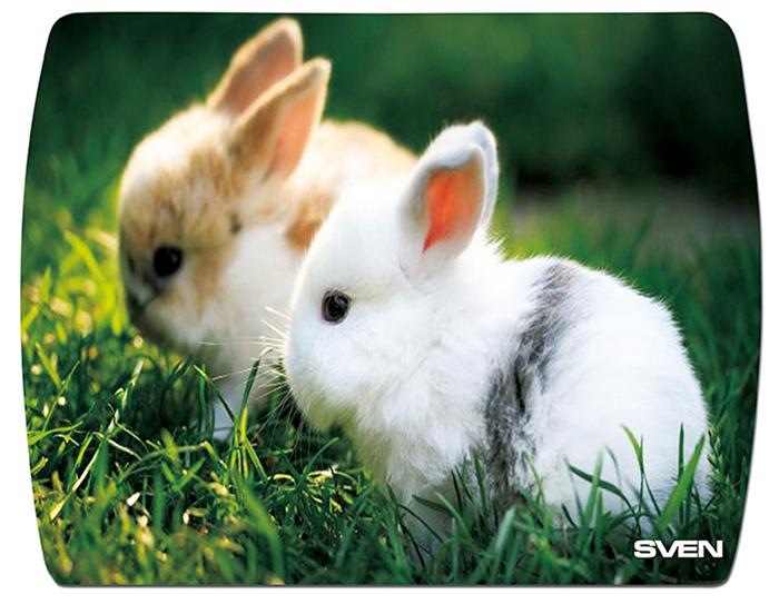 Sven UB SV-011130 Кролики коврик для мышиSV-011130_кроликиКоврик для мыши Sven UB изготовлен из вспененного мягкого пластика и полипропилена и имеет износостойкую печать с уникальными картинками животных. Основа коврика обеспечивает надежное сцепление с поверхностью стола.