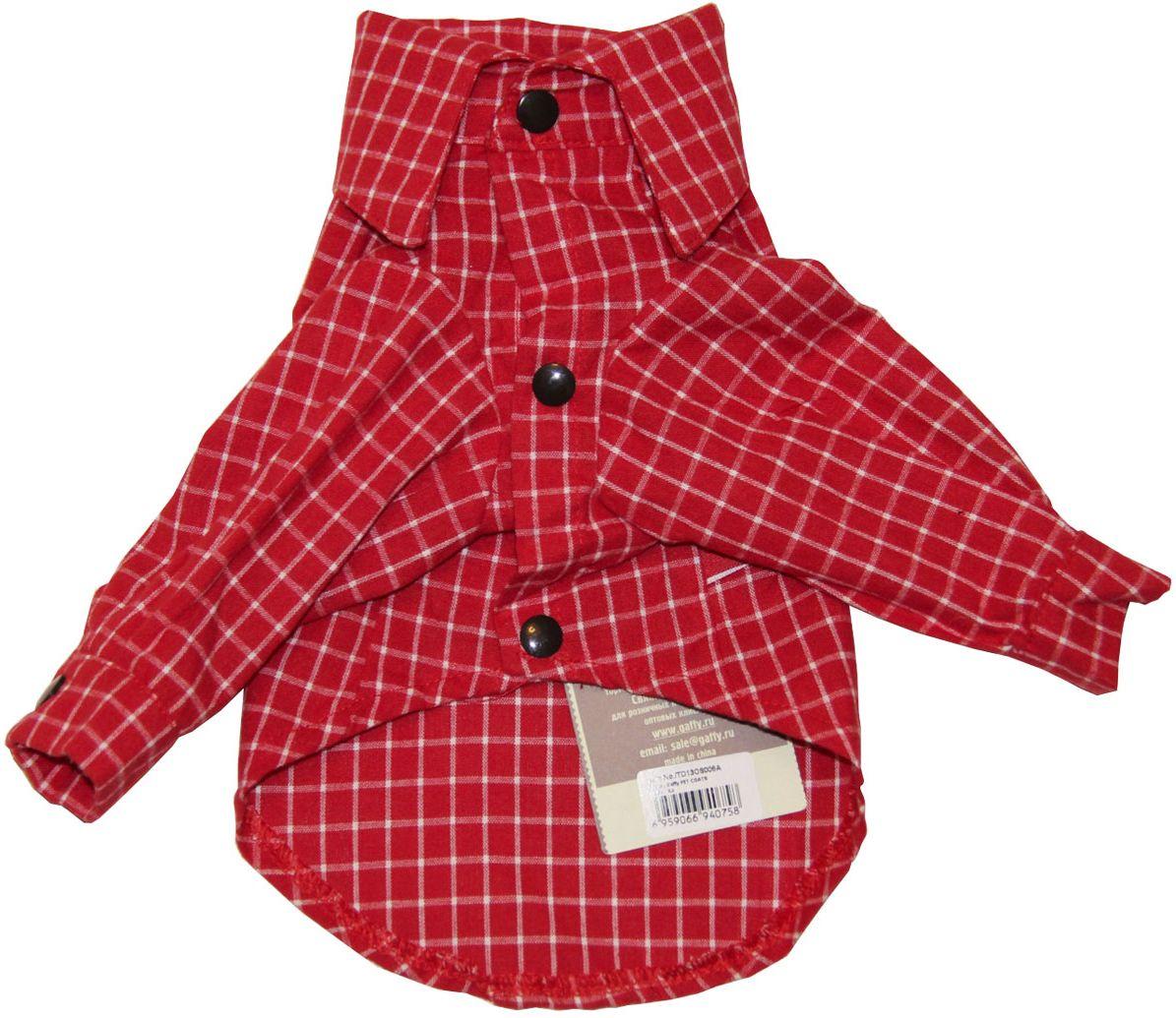 Рубашка для собак Gaffy Pet Red Plaid. Размер L11021 LСтильная рубашка в актуальную красную клетку.Клетка всегда в моде. Лаконичный дизайн для любого случая. Прекрасный вариант для улицы, для дома и как основа под любую одежду.Фиксируется на животе кнопками. Материал кнопок: металл.Идеально сочетается с куртками и жилетами.Обхват шеи, см: 36.Обхват груди, см: 55.Длина спины, см: 40.