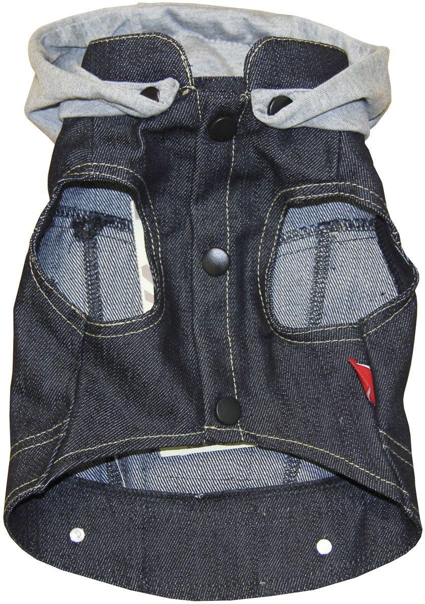 Жилет для собак Gaffy Pet Denim. Размер XS11017 XSОригинальный жилет-куртка из потертой джинсы с хлопковым капюшоном. Для всех маленьких модников и модниц. Можно сочетать с рубашками и майками. Яркий и запоминающийся дизайн.Фиксируется на животе кнопками. Материал кнопок: металл.Обхват шеи, см: 20.Обхват груди, см: 35.Длина спины, см: 22.