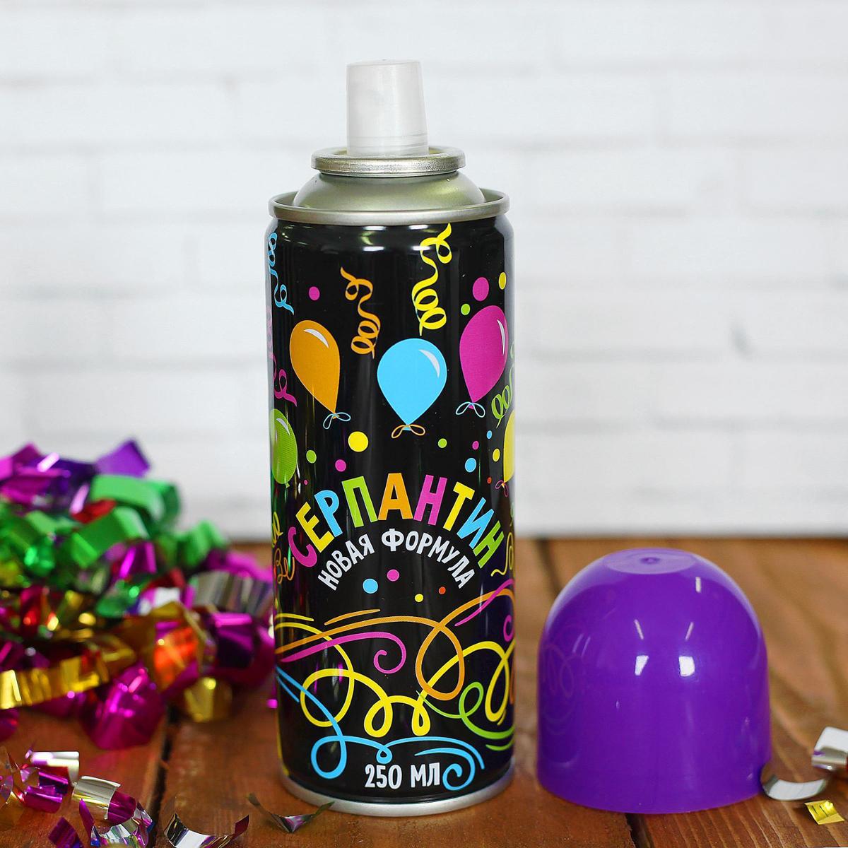 Спрей Серпантин, цвет: фиолетовый, 250 мл2358584Невозможно представить нашу жизнь без праздников! Мы всегда ждем их и предвкушаем, обдумываем, как проведем памятный день, тщательно выбираем подарки и аксессуары, ведь именно они создают и поддерживают торжественный настрой. Новогодние аксессуары - это отличный выбор, который привнесет атмосферу праздника в ваш дом! Серпантин можно использовать на городских карнавалах, тематических вечеринках и праздниках. Чтобы получить длинную нить серпантина, необходимо просто нажать на разбрызгиватель. Его желательно направлять вверх, а не в лицо человеку.