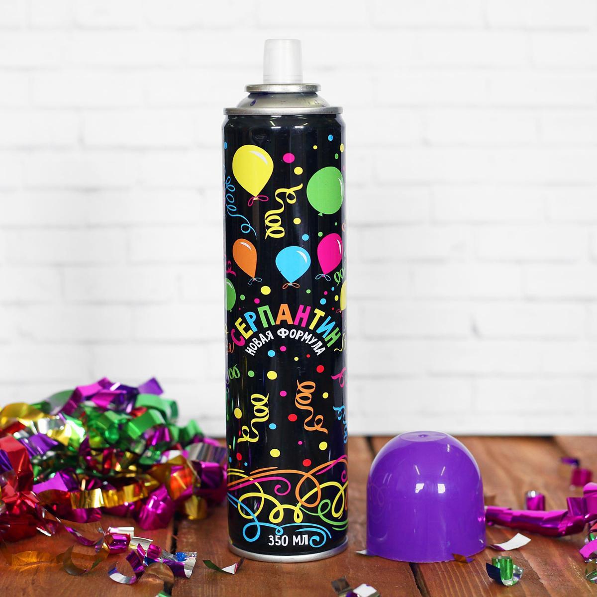 Спрей Серпантин, цвет: фиолетовый, 350 мл2358588Невозможно представить нашу жизнь без праздников! Мы всегда ждем их и предвкушаем, обдумываем, как проведем памятный день, тщательно выбираем подарки и аксессуары, ведь именно они создают и поддерживают торжественный настрой. Новогодние аксессуары - это отличный выбор, который привнесет атмосферу праздника в ваш дом! Серпантин можно использовать на городских карнавалах, тематических вечеринках и праздниках. Чтобы получить длинную нить серпантина, необходимо просто нажать на разбрызгиватель. Его желательно направлять вверх, а не в лицо человеку.