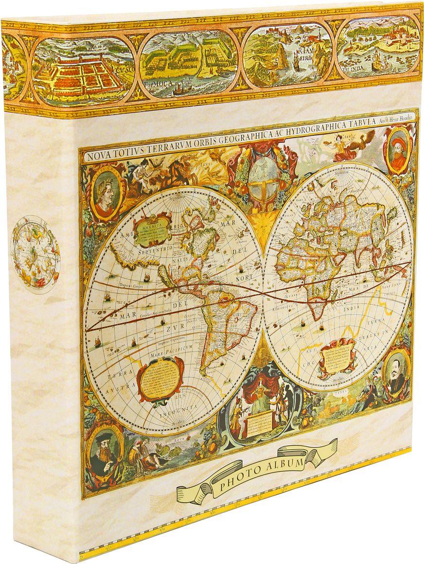 Фотоальбом Pioneer Antique Map. Европа, цвет: бежевый, желтый, коричневый, 10 х 15 см47497 LM-4R500RBМатериалы, использованные в изготовлении альбома Pioneer Antique Map. Европа, обеспечивают высокое качество хранения ваших фотографий, поэтому фотографии не желтеют со временем. Обложка альбома выполнена из ламинированного картона. Страницы выполнены из пластика. На странице фотоальбома размещаются 5 фотографий: 3 горизонтально и 2 вертикально. Альбом содержит 100 страниц.Вмещает 500 фотографий. Крепление фото: кармашки. Максимальный размер фото: 10 х 15 см. Переплет: на кольцах. Размер альбома: 33 х 34,5 см.