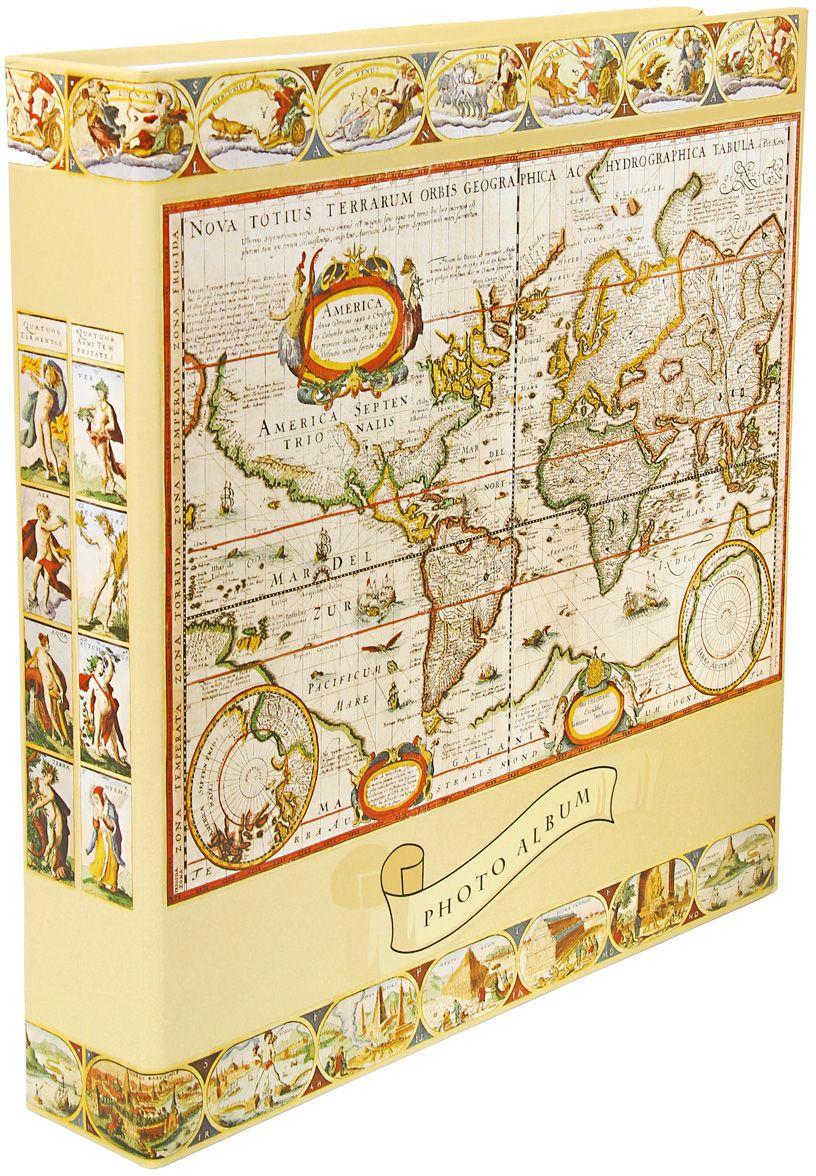 Фотоальбом Pioneer Antique Map. Мир, цвет: бежевый, белый, коричневый, 10 х 15 см47499 LM-4R500RBМатериалы, использованные в изготовлении альбома Pioneer Antique Map. Мир, обеспечивают высокое качество хранения ваших фотографий, поэтому фотографии не желтеют со временем. Обложка альбома выполнена из ламинированного картона. Страницы выполнены из пластика. На странице фотоальбома размещаются 5 фотографий: 3 горизонтально и 2 вертикально. Альбом содержит 100 страниц.Вмещает 500 фотографий. Крепление фото: кармашки. Максимальный размер фото: 10 х 15 см. Переплет: на кольцах. Размер альбома: 33 х 34,5 см.