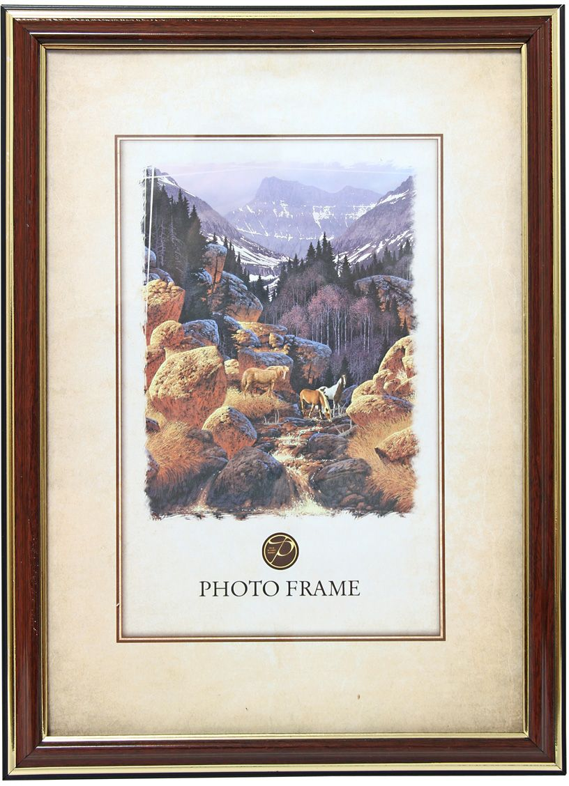 Фоторамка Pioneer Россия, цвет: красное дерево, 10 х 15 см