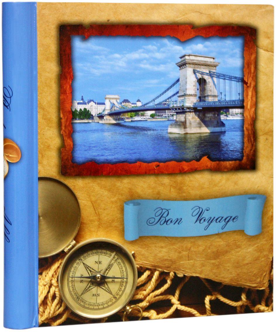 Фотоальбом Pioneer Bon Voyage, цвет: голубой, 10 магнитных листов, 23 х 28 см