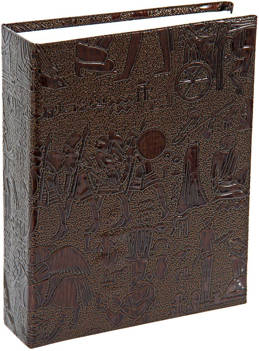 Фотоальбом Pioneer Egypt Leather, цвет: коричневый, 10 х 15 см48493 PU-46200Материалы, использованные в изготовлении альбома Pioneer Egypt Leather, обеспечивают высокое качество хранения ваших фотографий, поэтому фотографии не желтеют со временем. Обложка - Делюкс, выполнена из искусственной кожи. Страницы бумажные. Альбом вмещает 200 фотографий.Тип переплета: книжный.