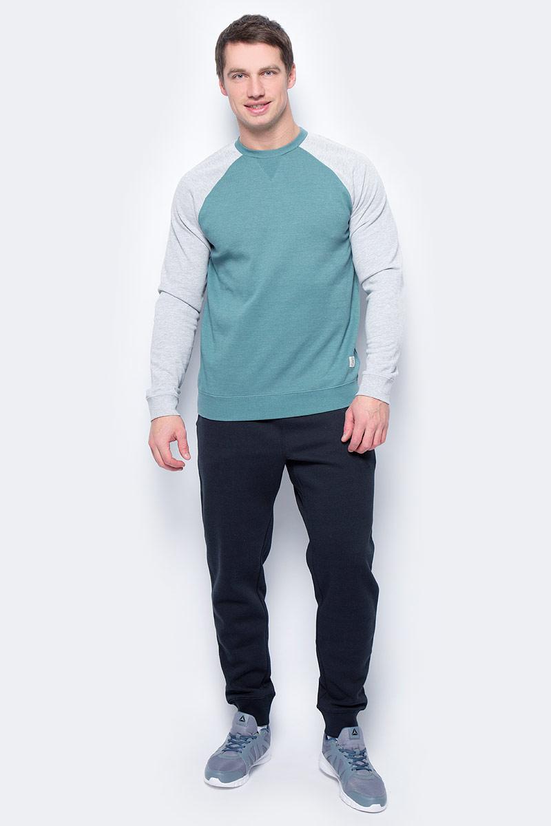 Толстовка мужская DC Shoes, цвет: зеленый, серый. EDYFT03185-BPF0. Размер L (50/52)EDYFT03185-BPF0Мужская толстовка DC Shoes выполнена из флиса с начесом. Модель имеет комфортный классический крой, длинные рукава реглан контрастного цвета и круглый вырез горловины. Манжеты рукавов, горловина и низ толстовки дополнены эластичным материалом в рубчик.