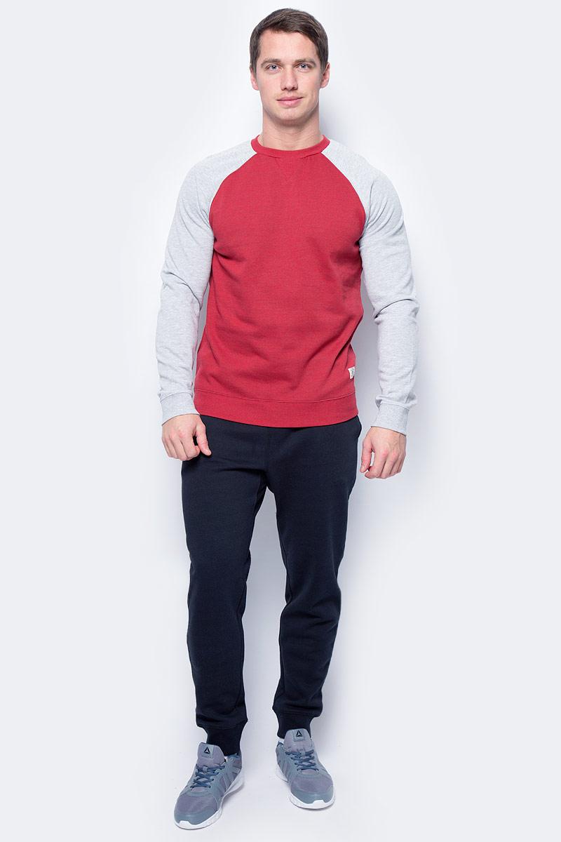 Толстовка мужская DC Shoes, цвет: красный, серый. EDYFT03185-RRD0. Размер XL (52/54)EDYFT03185-RRD0Мужская толстовка DC Shoes выполнена из флиса с начесом. Модель имеет комфортный классический крой, длинные рукава реглан контрастного цвета и круглый вырез горловины. Манжеты рукавов, горловина и низ толстовки дополнены эластичным материалом в рубчик.