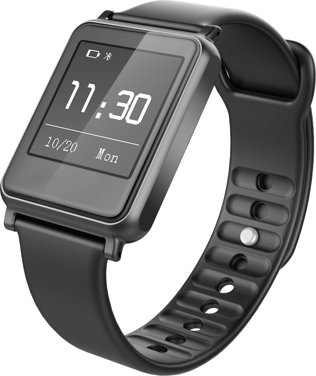 iWOWN i7, Black умные часыi7Умные часы iWown i7 - это стильный гаджет, который легко завибрирует, если на смартфон поступит вызов, сообщение или другое уведомление, и вы сможете управлять входящими звонками и смс с экрана браслета, это позволит не пропустить ничего важного. iWOWN i7 обладает функцией шагомера и пульсомера, производит мониторинг сна, физической активности и калорий, круглосуточно мониторит ваше сердцебиение. Браслет можно даже носить не снимая, благодаря корпусу со степенью пыле- и влагозащиты - IP67. Сдержанный дизайн отлично подойдет под любой стиль одежды.