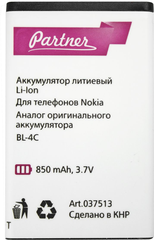 Partner аккумулятор-аналог Nokia BL-4C (850 мАч) аккумулятор gerffins для nokia bl 4c 900 мач