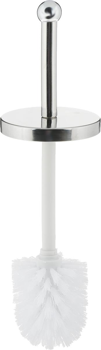 """Ершик для унитаза """"Axentia"""" станет достойным дополнением туалетной комнаты. В комплект входит ершик для унитаза и подставка. Прочная ручка из нержавеющей стали и жесткий ворс обеспечивают эффективное использование. Подставка оформлена фотопечатью. Размеры: 9,5 х 9,5 х 26,5 см."""