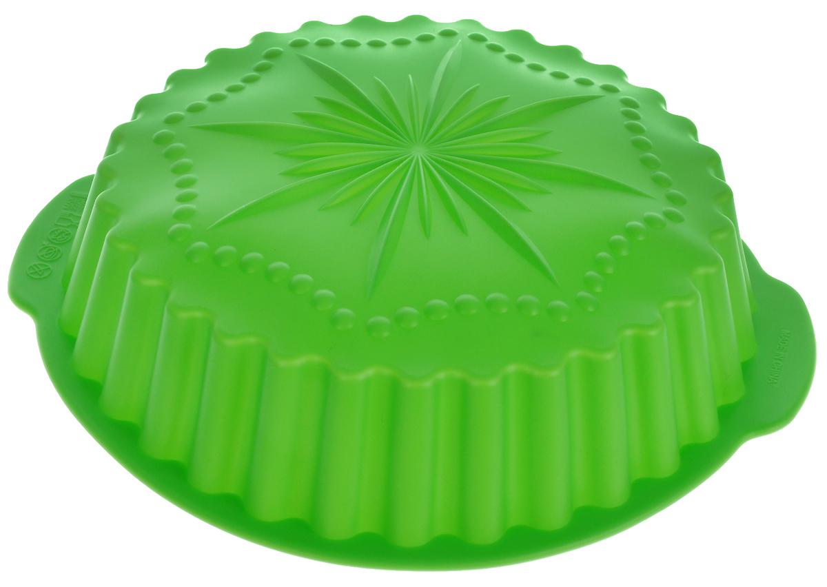 Форма для выпечки Доляна Звезда, цвет: зеленый, 29 х 28 х 5,5 см1158543Форма для выпечки Доляна Звезда выполнена из силикона, который выдерживает температуру от -40 до +250°С. Материал долговечный, гипоаллергенный, не впитывает запахи, легко моется. В такой форме выпечка не пригорает, сохраняет нужную форму и легко извлекается.Форма для выпечки из силикона - современное решение для практичных хозяек. Оригинальный предмет позволяет готовить в духовке вкуснейшую выпечку.Высокая термостойкость позволяет применять форму в духовых шкафах и морозильных камерах. Силикон пригоден для посудомоечных машин. Как выбрать форму для выпечки – статья на OZON Гид.