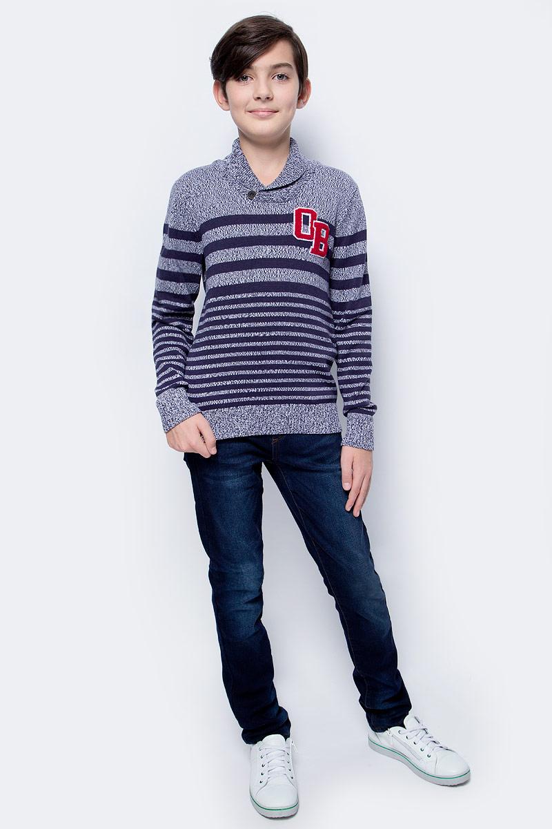 Джемпер для мальчика Overmoon by Acoola Solja, цвет: синий. 21110310005_500. Размер 134