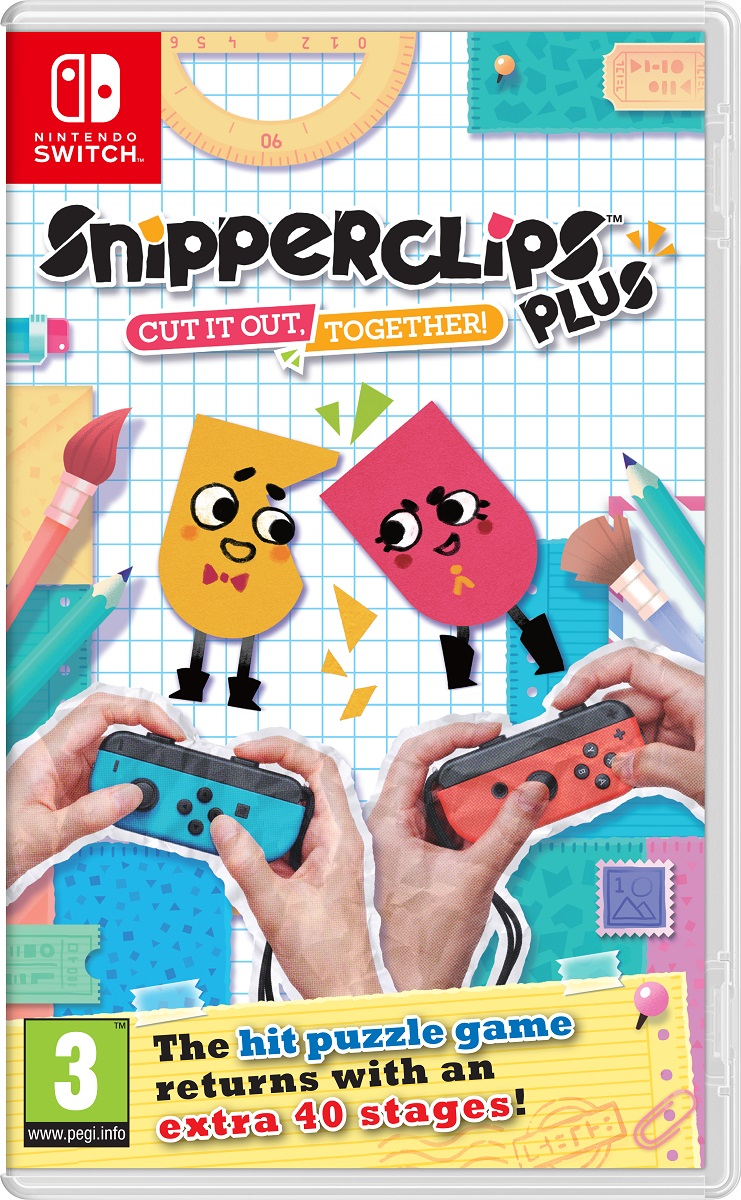 Snipperclips Plus: Cut it out, together! (Nintendo Switch) cut out backless bralette swimsuit