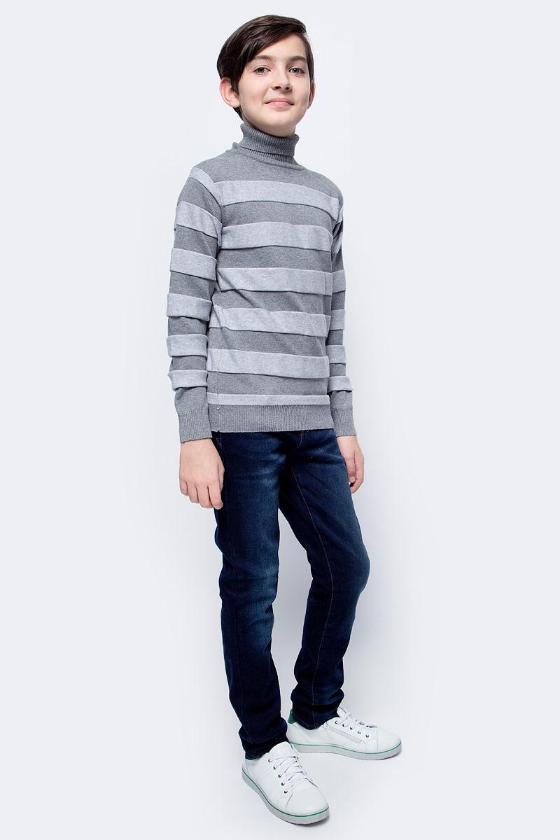 Свитер для мальчика Overmoon by Acoola Barry, цвет: серый. 21110320001_1900. Размер 134 джемпер для мальчика overmoon by acoola baruba цвет серый 21120310004 1900 размер 128