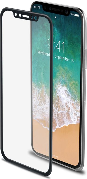 Celly 3D Glass защитное стекло для Apple iPhone X, Black3DGLASS900BKCelly 3D Glass-это ультражесткое закаленное стекло (9H) с окрашенными краями для подчеркивания дизайна смартфона Apple iPhone X,. Разработано, чтобы гарантировать лучшую защиту и полное покрытие экрана.