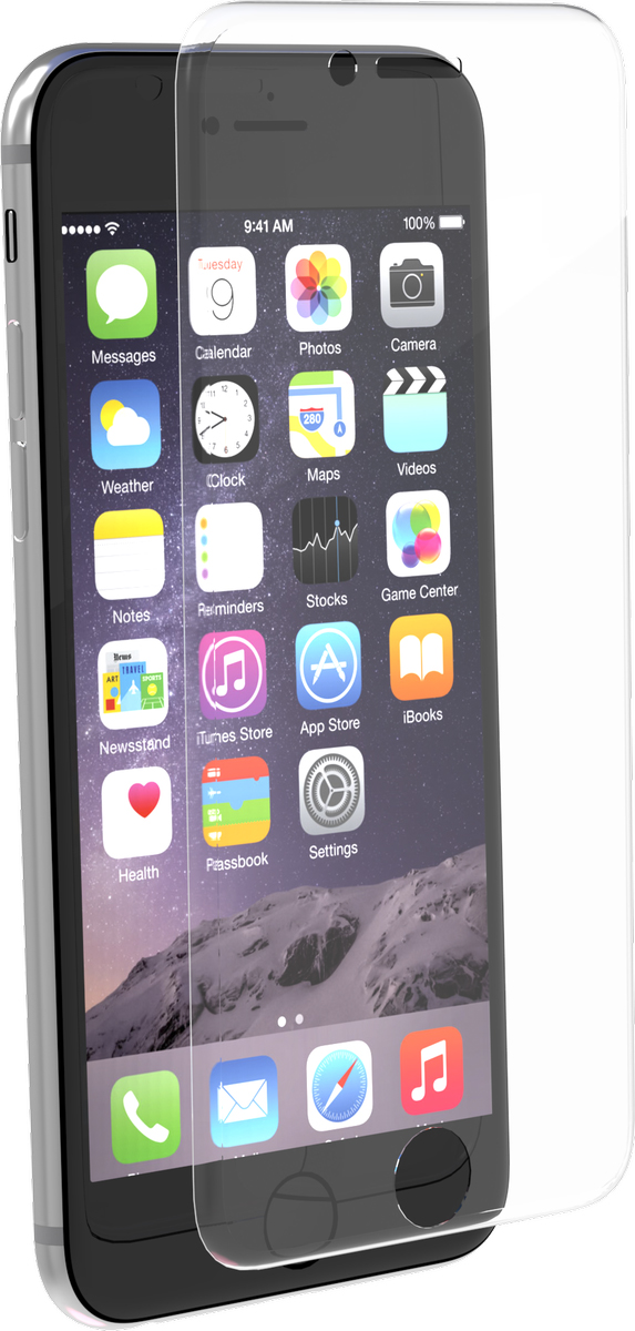 Muvit изогнутое защитное стекло для Apple iPhone 7/8, Clear - Защитные стекла и пленки