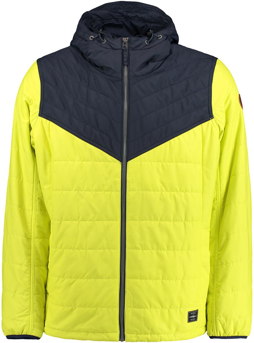 Куртка мужская ONeill Am Transit Jacket, цвет: желтый, синий. 7P0114-2008. Размер XXL (54/56)7P0114-2008Мужская куртка ONeill выполнена из высококачественного материала. Утепленная куртка с капюшоном и длинными рукавами застегивается на молнию. Спереди расположены карманы.