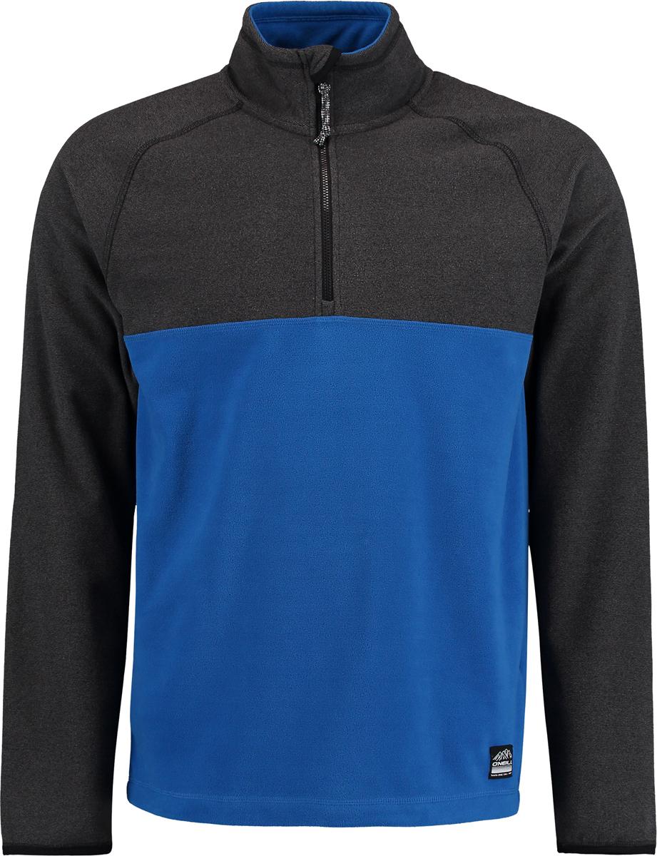 Толстовка мужская ONeill Pm Ventilator Half Zip Fleece, цвет: голубой, черный. 7P0220-5130. Размер L (50/52)7P0220-5130Мужская толстовка от ONeill выполнена из флиса. Модель с длинными рукавами-реглан и воротником стойкой на груди застегивается на молнию.