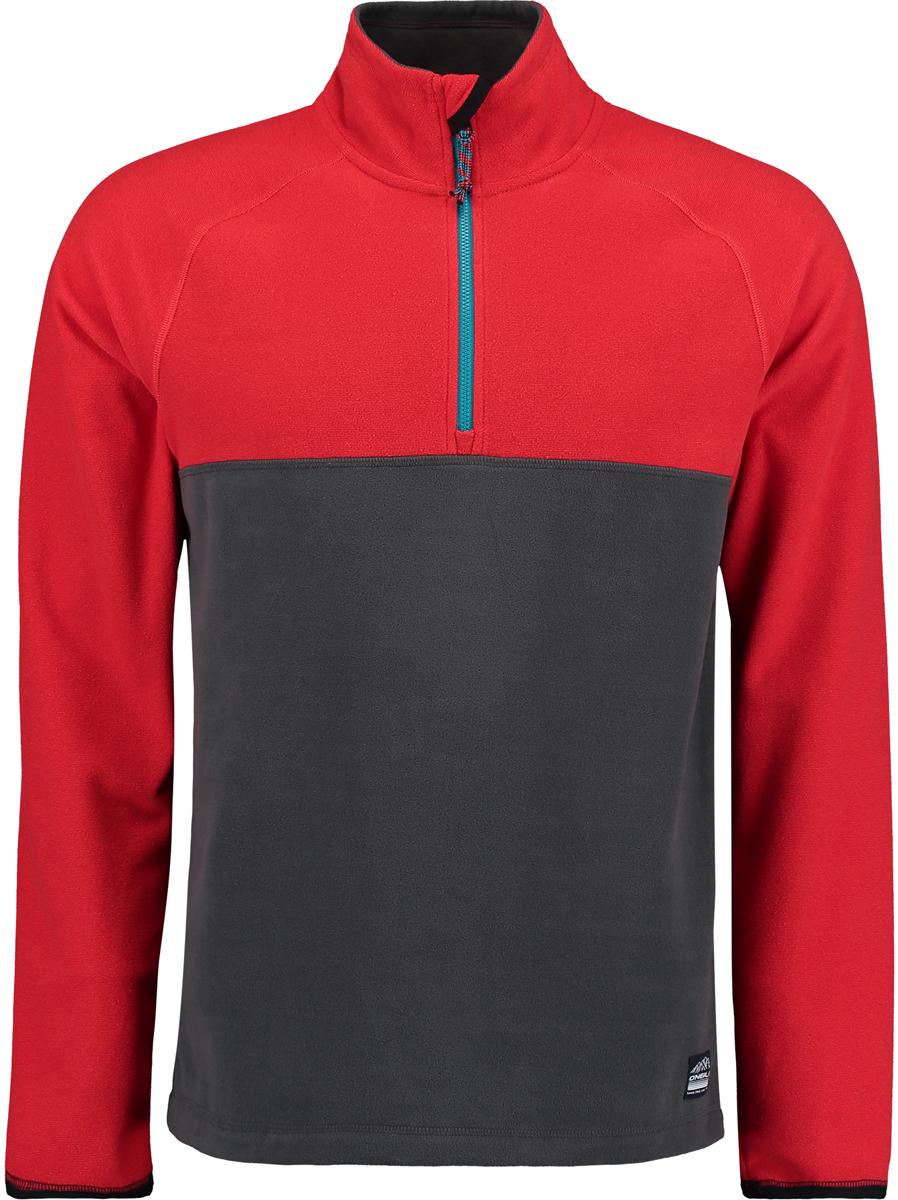 Толстовка мужская O'Neill Pm Ventilator Half Zip Fleece, цвет: красный, серый. 7P0220-8026. Размер XL (52/54)