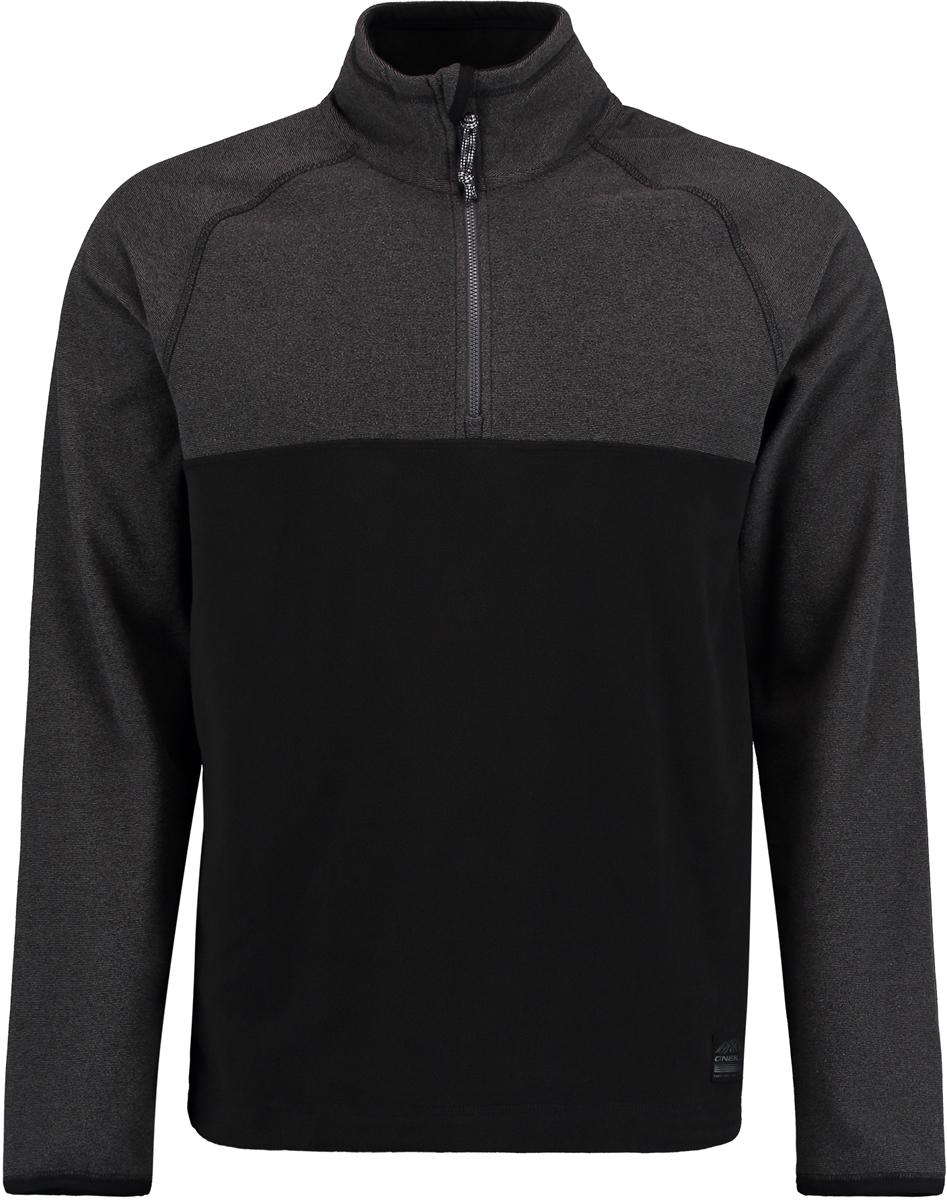 Толстовка мужская O'Neill Pm Ventilator Half Zip Fleece, цвет: черный, серый. 7P0220-9010. Размер S (46/48)