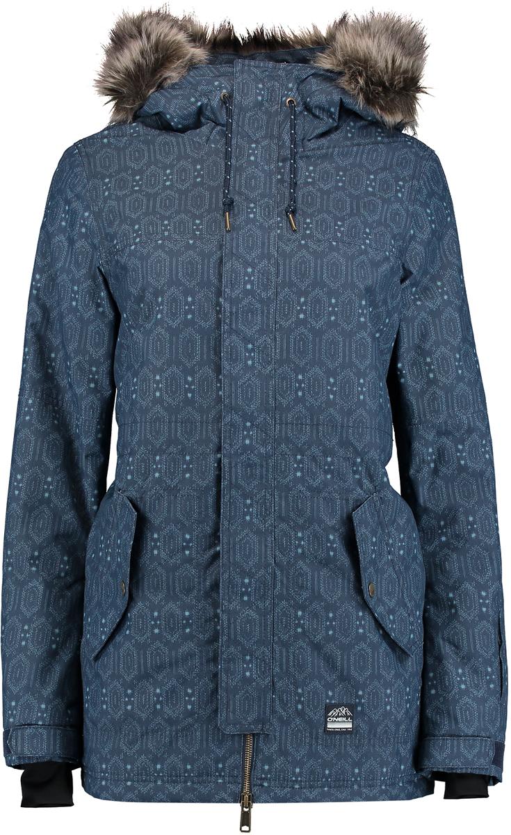 Куртка женская ONeill Pw Cluster Ii Jacket, цвет: синий. 7P5026-5950. Размер XS (42/44)7P5026-5950Женская куртка ONeill выполнена из высококачественного материала. Утепленная куртка с капюшоном и длинными рукавами застегивается на молнию и имеет ветрозащитный клапан. Капюшон декорирован опушкой из искусственного меха. Рукава дополнены внутренними трикотажными манжетами. Спереди расположены карманы с клапанами.