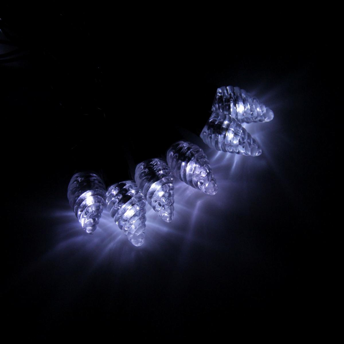 Гирлянда светодиодная Luazon Метраж. Растаявший лед, уличная с насадкой, фиксинг, 40 ламп, 220 V, 5 м, цвет: белый. 185185Светодиодные гирлянды, ленты и т.д. — это отличный вариант для новогоднего оформления интерьера или фасада. С их помощью помещение любого размера можно превратить в праздничный зал, а внешние элементы зданий, украшенные ими, мгновенно станут напоминать очертания сказочного дворца. Такие украшения создают ауру предвкушения чуда. Деревья, фасады, витрины, окна и арки будто специально созданы, чтобы вы украсили их светящимися нитями.